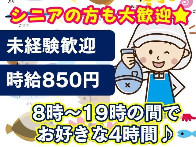 生鮮市場 FRESHLY 鮮魚部(益伸水産) 岡谷店のアルバイト情報